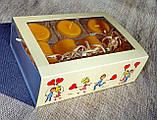 Набор 6 стеклянных подсвечников в комплекте с 6 прозрачными восковыми чайными свечами 24г для влюбленных, фото 4