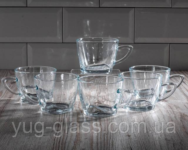 Набор чайных чашек стеклянных