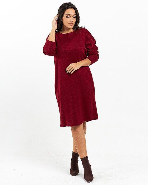 Платье бордо(58_60)