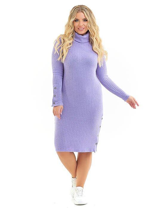 Платье сиреневый(56_58)