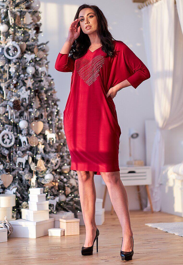 Платье красный(50)