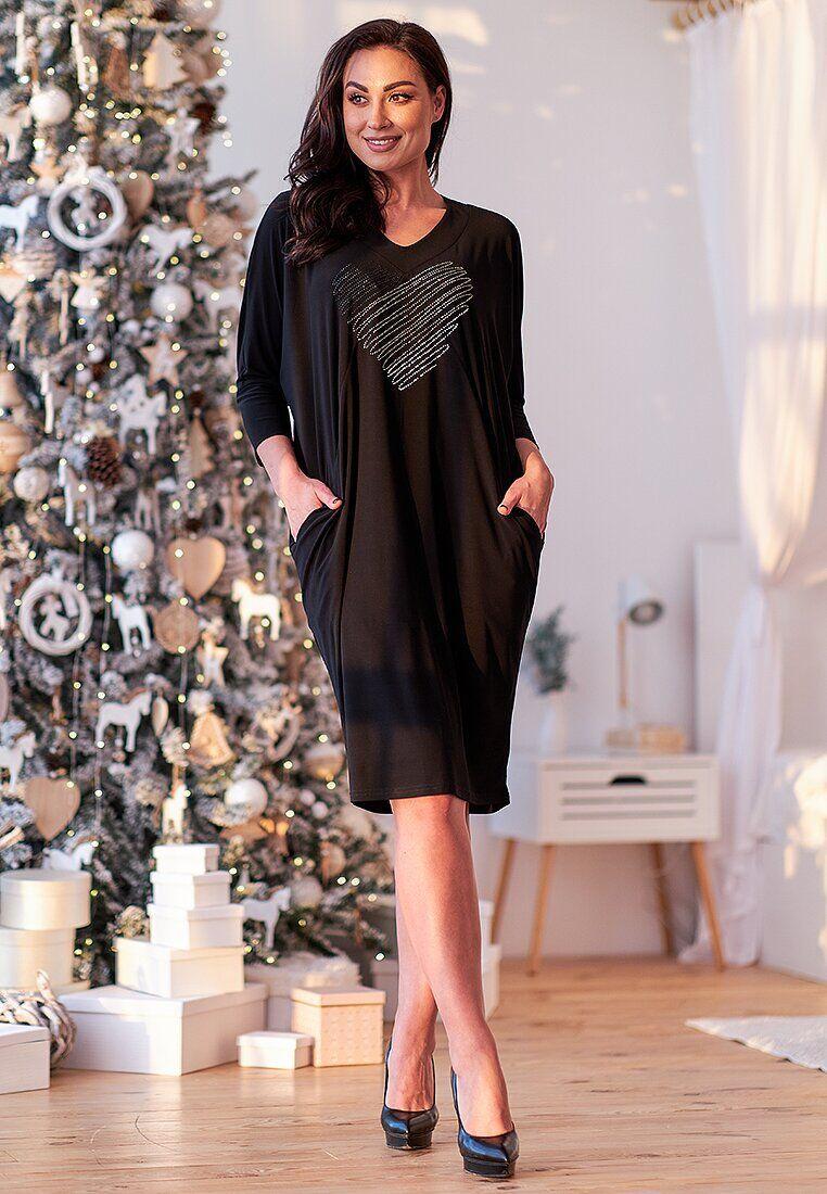 Платье черный(52)
