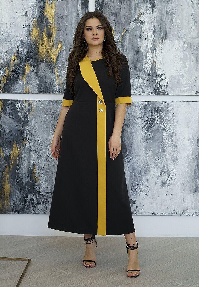 Платье черный(50)