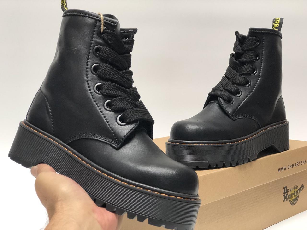 Женские Черные Ботинки Dr.Martens MOLLY