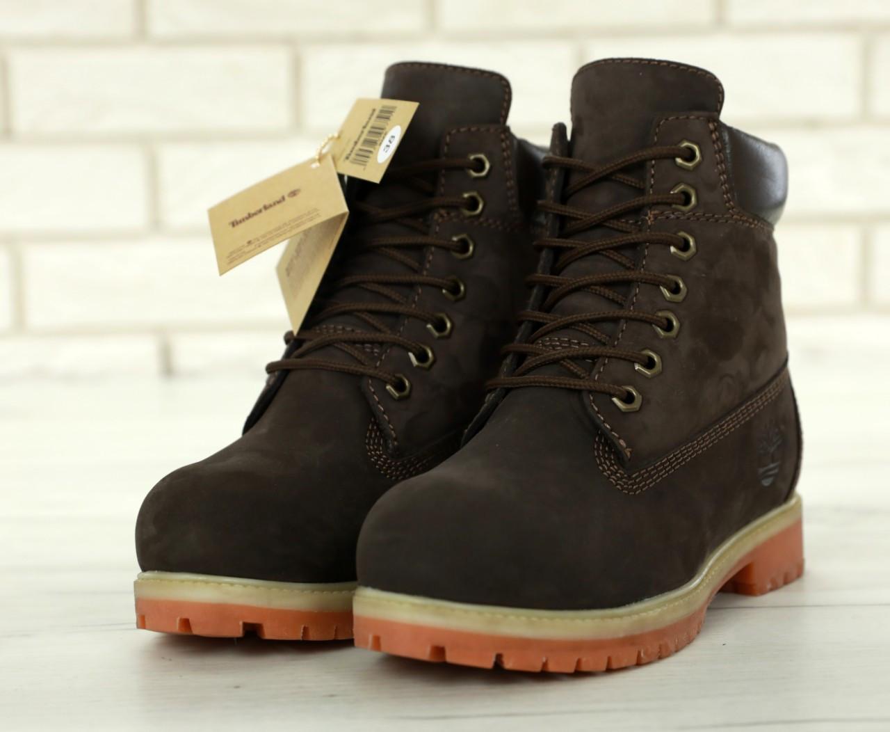 Зимние Женские коричневые Ботинки Timberland Original