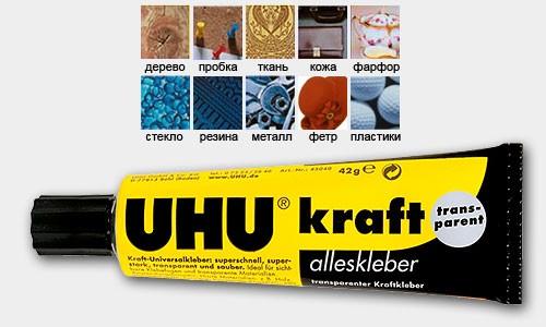 Универсальный контактный клей для сверхпрочного склеивания UHU Kraft Transparent 6г