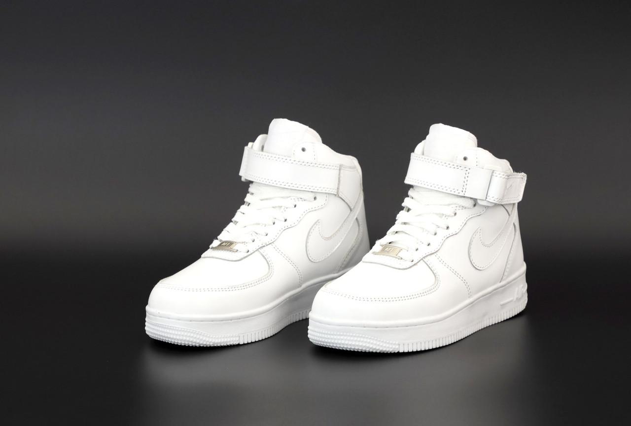 Женские зимние белые Кроссовки Nike Air Force Winter