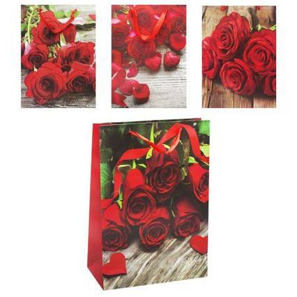 ЧП195541 [7501L] Подарочный пакет 7501L (180шт) Розы, 4 вида, 12 шт в пакете/цена за шт/ р-р пакета –