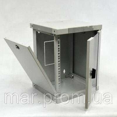 """Шкаф настенный 10"""" 6U, 320х300 (Ш * Г) мм, серый"""