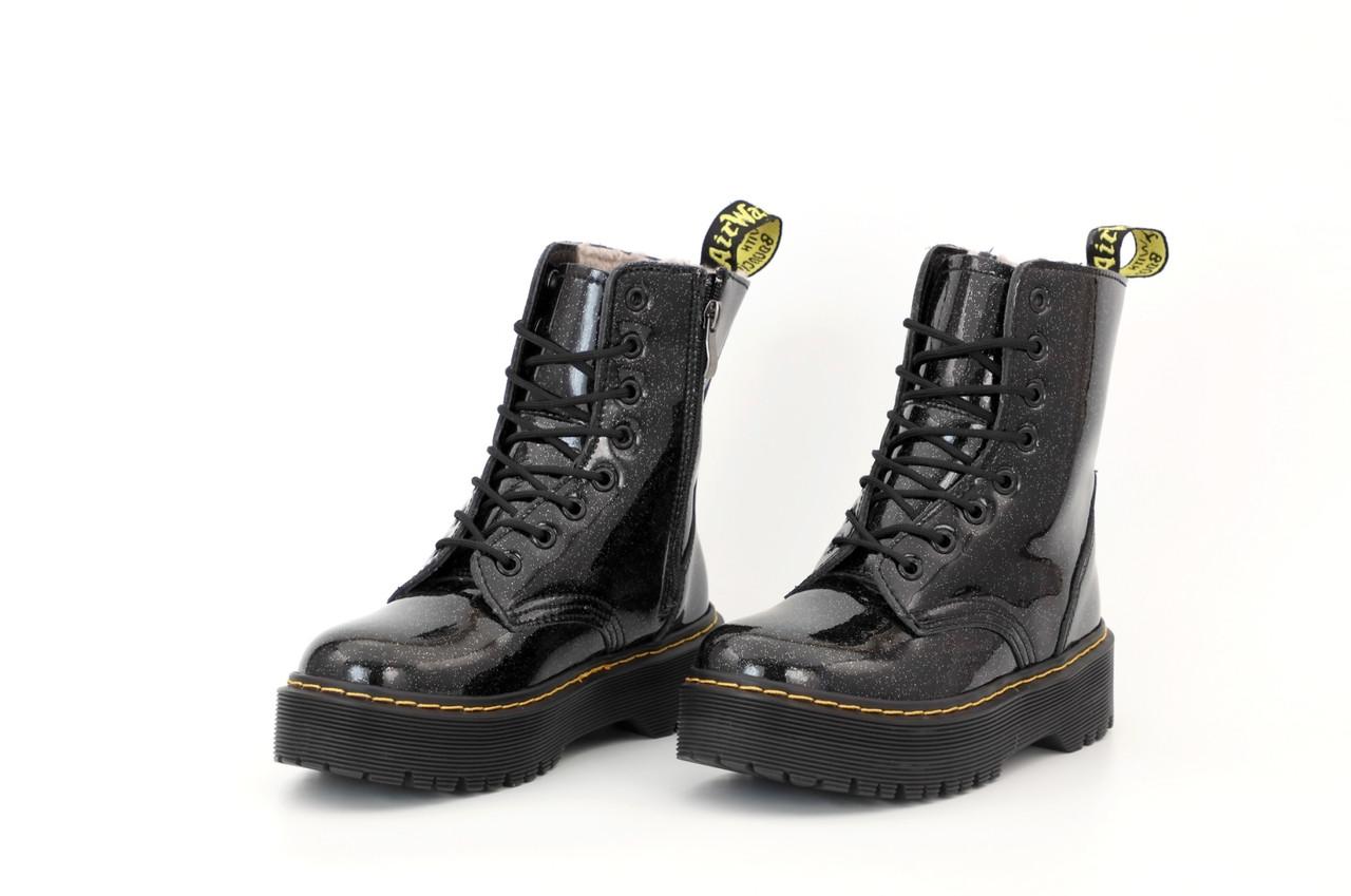 Женские зимние черные Ботинки Dr.Martens JADON Galaxy