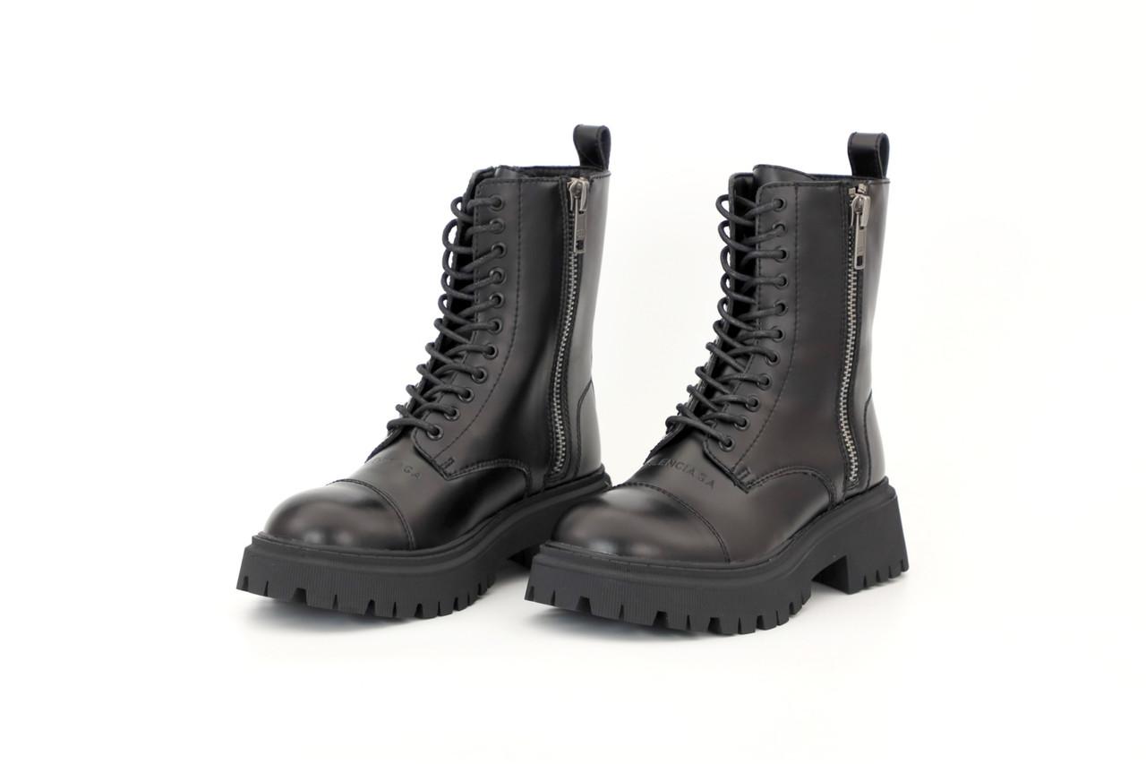 Жіночі зимові чорні Черевики Balenciaga Strike