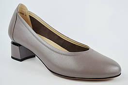 Туфли лодочки Geronea 83973 41 Серый перламутр кожа