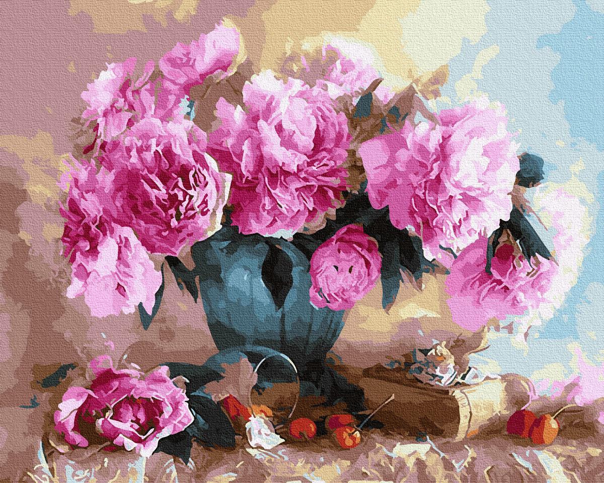 Картина за номерами Квіти у лоджії 50х40см Brushme