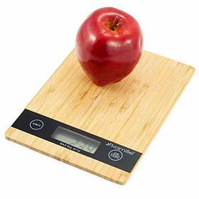 Весы кухонные электронные бамбуковые Kamille KM-7106