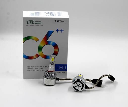 Комплект LED ламп C6 H7, фото 2
