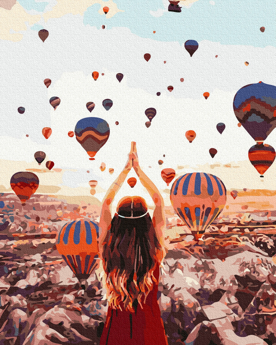 Картина по номерам Воздушные шары Турция 50х40см