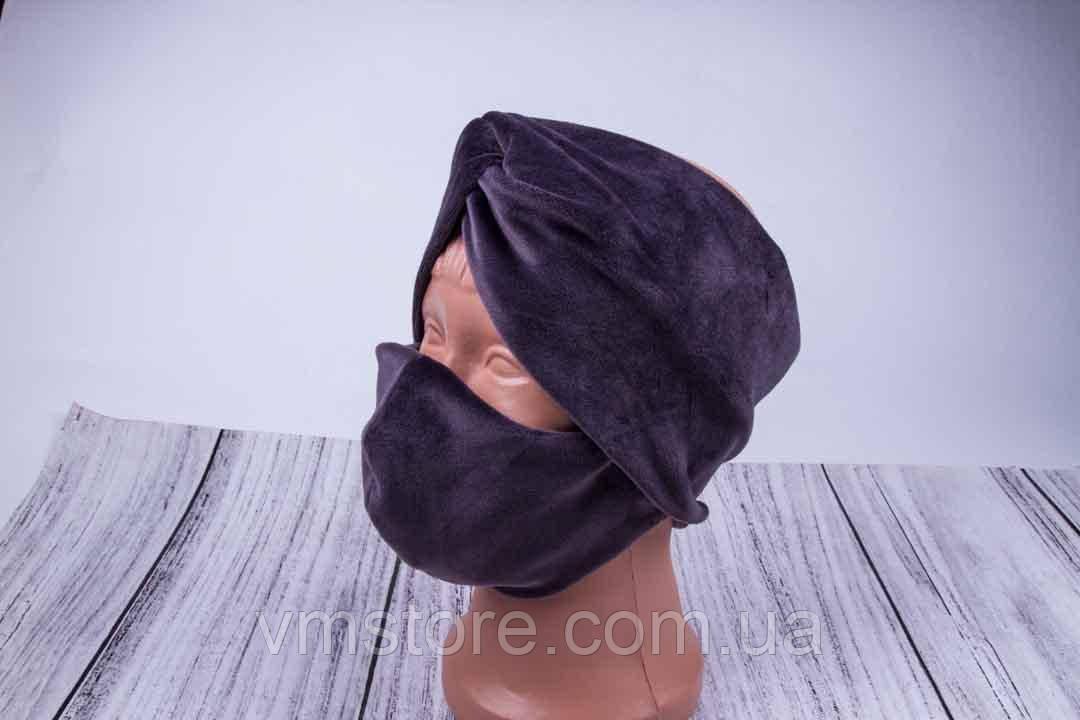 Набор повязка чалма для волос и защитная маска