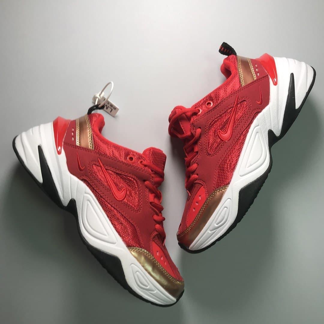 Кроссовки Nike M2K Tekno женские, красного цвета, Найк М2К Текно, женская обувь Найк, 40
