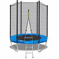 Батут для дітей FitNet з сіткою та драбинкою 183 см Батут для прыжков