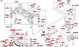 Сайлентблок задньої правої продольної тяги кіа Соренто 3, KIA Sorento 2015-20 UM, 55275c5000, фото 7