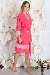Халат бавовняний Х912 Рожевий