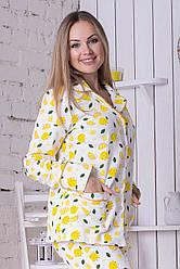 Класична жіноча піжама П1021 Лимони