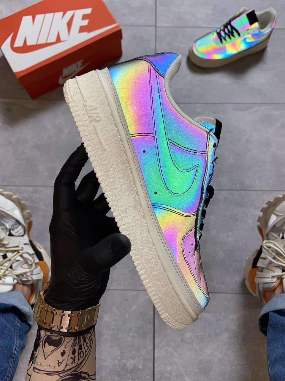 Кроссовки Nike Air Force 1 Low Reflective, черного цвета, Найк Аир Форс