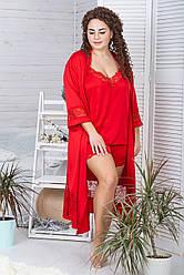Комплект для сну жіночий К1104п XXL+ Червоний