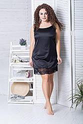 Жіноча сорочка для сну XXL+ Н030 Чорний