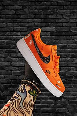 Кроссовки Nike Air Force 1 Low Orange White мужские, оранжевого цвета, Найк Аир Форс