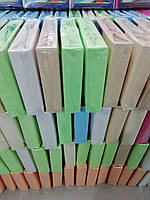 Простынь махровая на резинке 200х240 см разные цвета