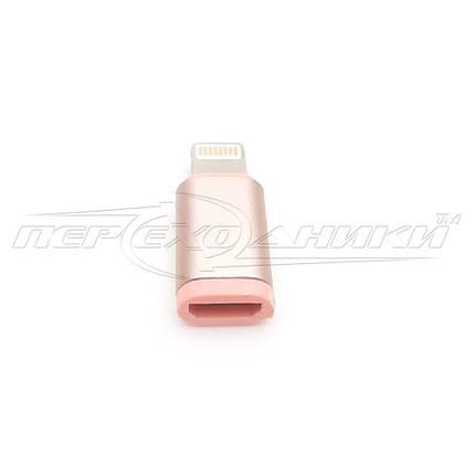 Переходник Lightning to micro USB Female, фото 2
