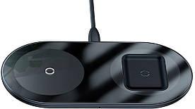 Беспроводное Зарядное Устройство для Телефона 2в1 Бесконтактная Baseus (WXJK-01) QI 15W