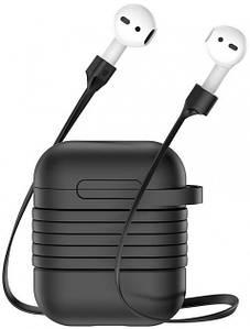 Чохол для Airpods 1/2 Навушників Силіконовий Baseus (TZARGS-01) Матовий Чорний