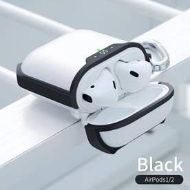 Чохол для Airpods 1/2 Навушників Силіконовий з Карабіном Xundd (XD-1001) Прозорий