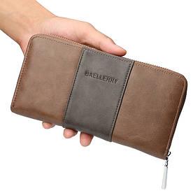 Мужской Кошелек Портмоне Baellerry (9030) для Карточек с Защитой от Считывания RFID Коричневый