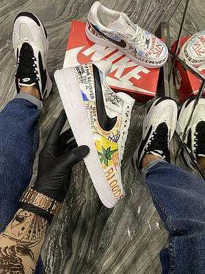 Кроссовки Nike Air Force Pauly x Vlone Pop мужские, белого цвета, Найк Аир Форс