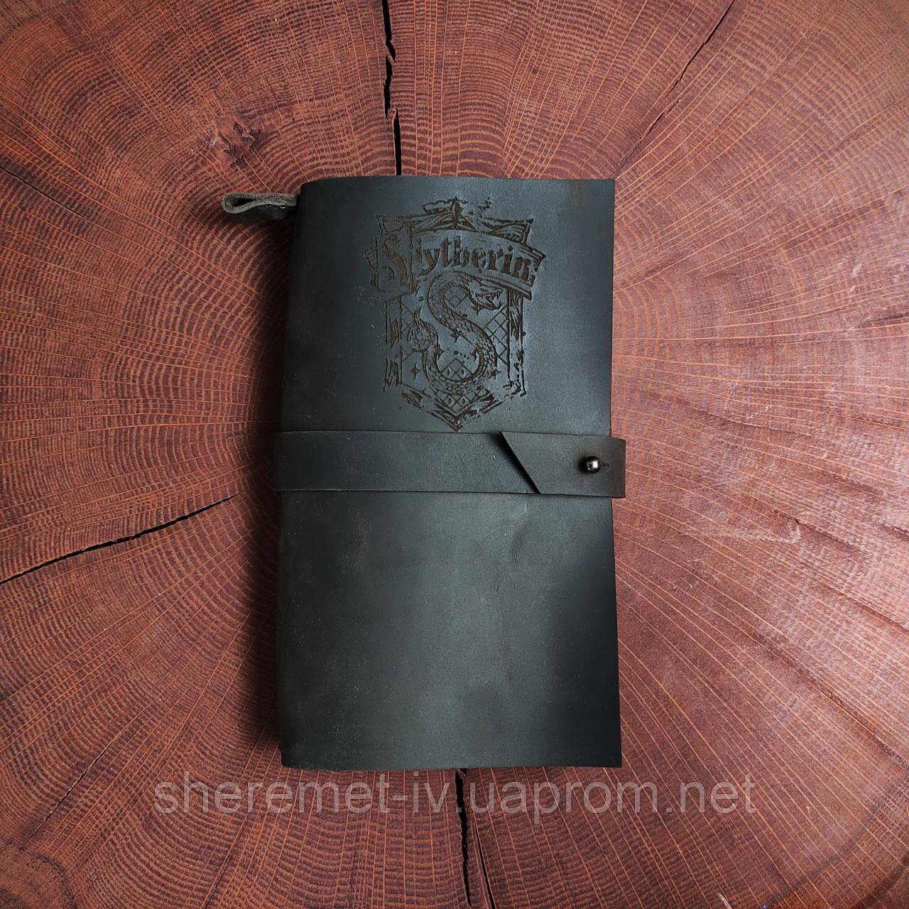 Кожаный блокнот Harry Potter,  Блокнот Гарри Поттер,  (ручка из бамбука в подарок)