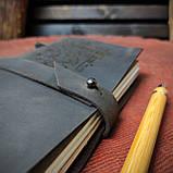Кожаный блокнот Harry Potter,  Блокнот Гарри Поттер,  (ручка из бамбука в подарок), фото 8