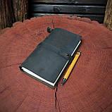 Кожаный блокнот Harry Potter,  Блокнот Гарри Поттер,  (ручка из бамбука в подарок), фото 6