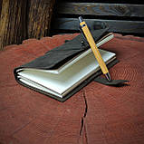 Кожаный блокнот Harry Potter,  Блокнот Гарри Поттер,  (ручка из бамбука в подарок), фото 5