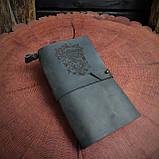Кожаный блокнот Harry Potter,  Блокнот Гарри Поттер,  (ручка из бамбука в подарок), фото 2