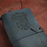 Кожаный блокнот Harry Potter,  Блокнот Гарри Поттер,  (ручка из бамбука в подарок), фото 3