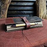Именной кожаный блокнот,  гравировка и подарочная коробка в подарок!, фото 8