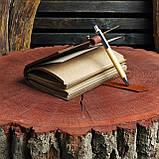 Именной кожаный блокнот,  гравировка и подарочная коробка в подарок!, фото 5