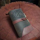 Именной кожаный блокнот,  гравировка и подарочная коробка в подарок!, фото 3