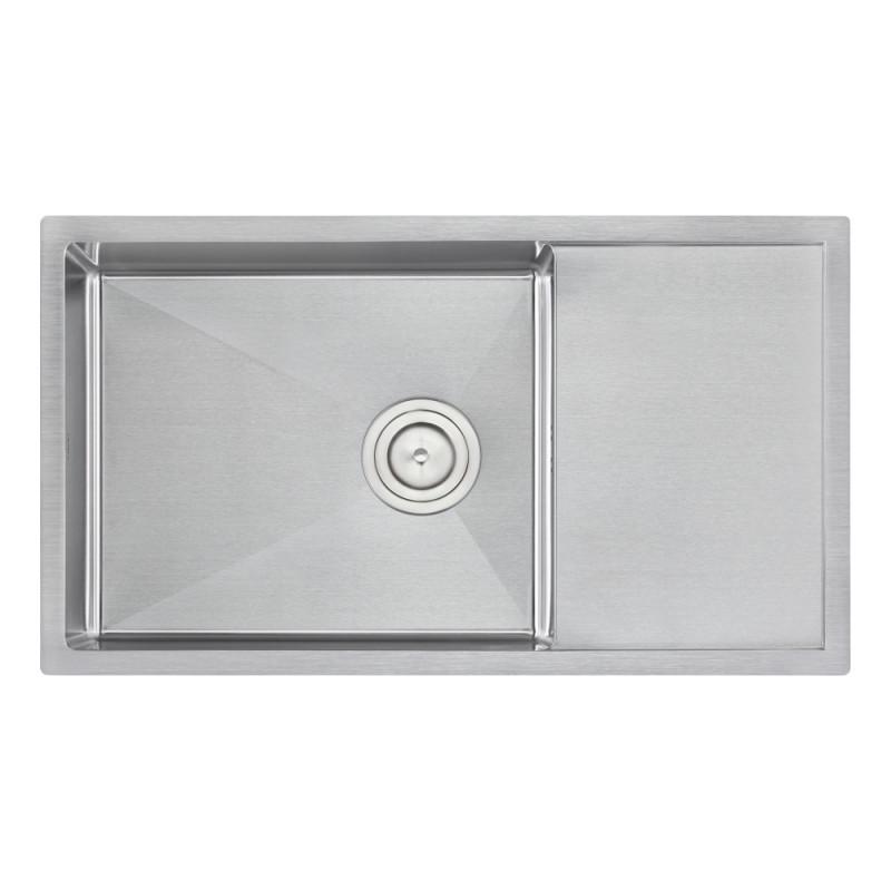 Кухонная мойка QT D7844 3.0/1.2 mm из нержавеющей стали интегрированная