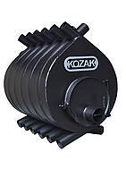 Булерьян KOZAK 03 - 700 м.куб топка на дровах 80 см печь стальная 4 мм конвекционная для обогрева воздухом.