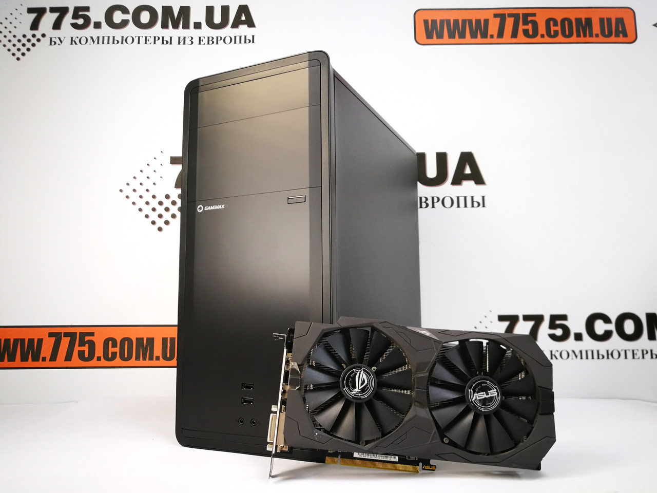 Игровой компьютер Gamemax, Intel Core i7-4790s 4.0GHz, RAM 8ГБ, SSD 120ГБ, HDD 500ГБ, RX 470 4GB