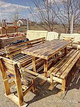 Комплект из дерева: стол и лавки